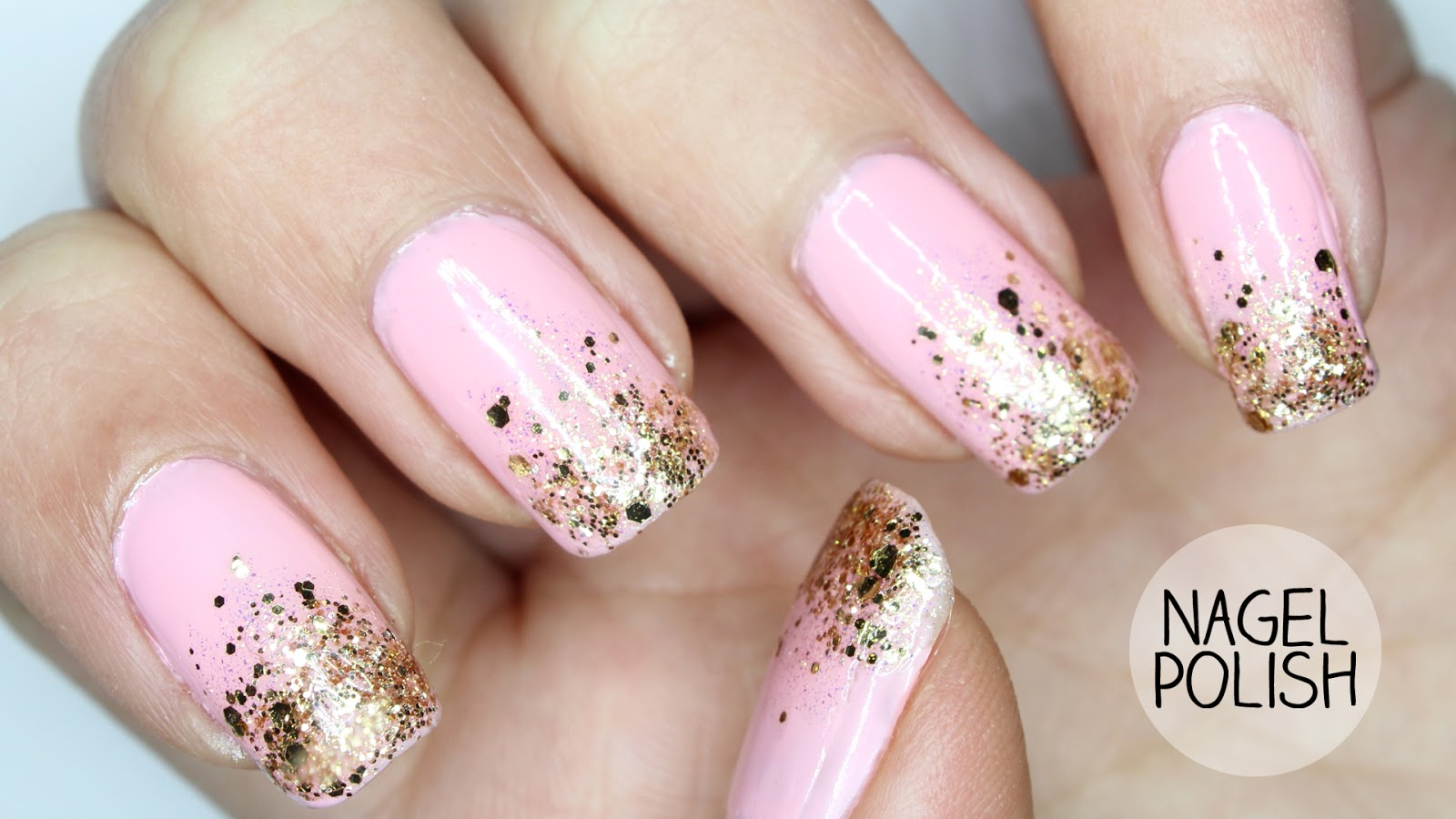 Nageldesign Weiß Rosa Fingerngel Glitzer Top Rosa French Mit Glitzer With Fingerngel