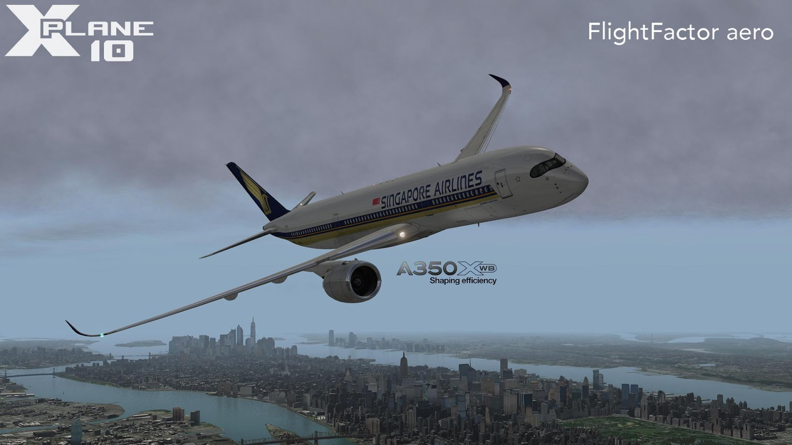 Flightfactor aero Airbus A350 v1 31 X Plane 10 - Ariel