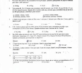 Exame de admissão Matemática IFP, EPFS 2017