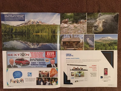Magazine layout that was published for Norm Stokes Photography