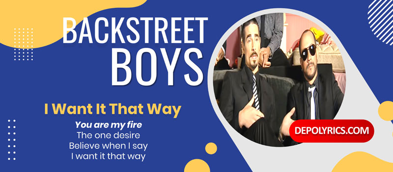 Song Lyric Oversettelse I Want It That Way - Backstreet Boys (Norwegian Translation) Norsk Oversettelse