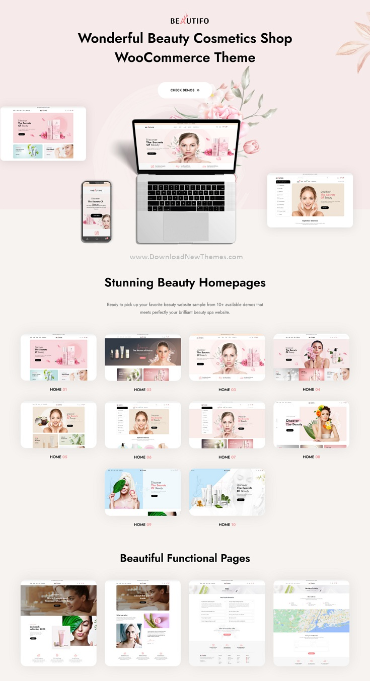Beauty Cosmetics Shop WooCommerce WordPress Theme