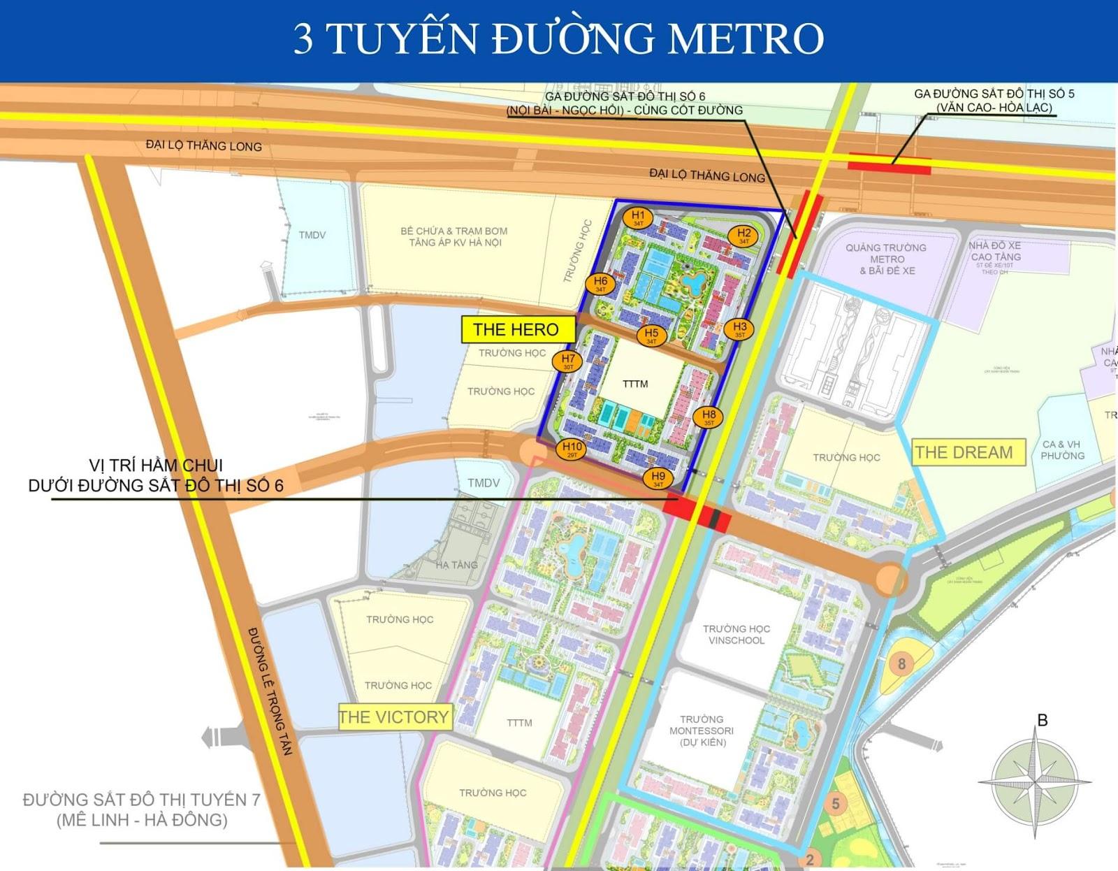 3 Tuyến đường sắt Metro