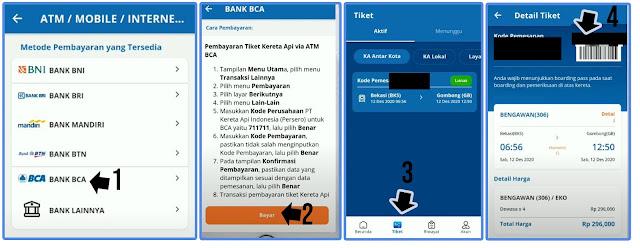 Cara Pembayaran Tiket Kereta Melalui KAI Access Menggunakan ATM