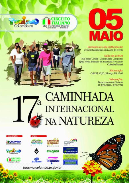 Colombo recebe a 17° Caminhada Internacional na Natureza