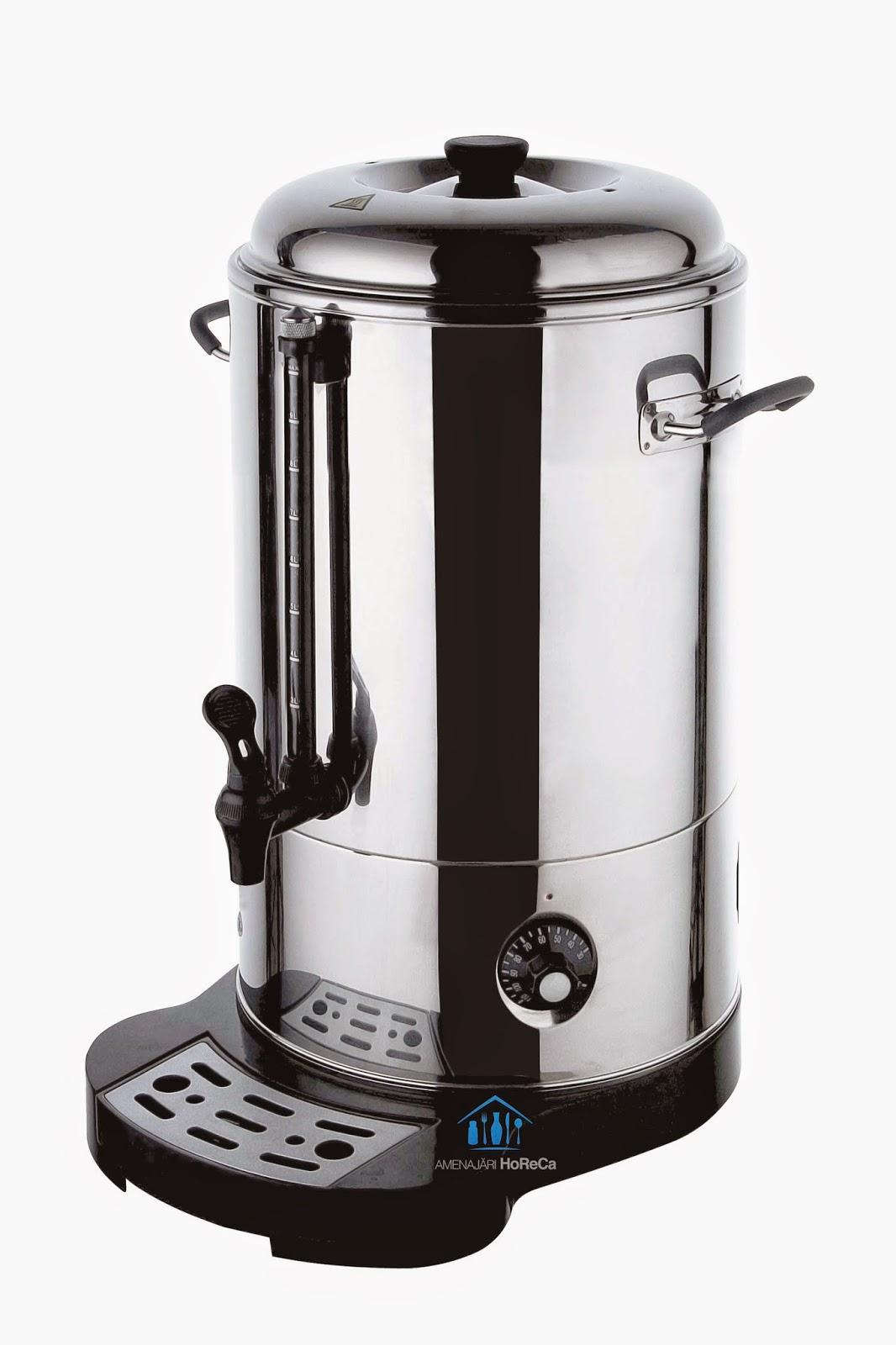 oala electrica,  finisaje premium, pereti dubli, 9 litri, fierbator vin, aparat vin fiert, dozator vin fiert, dozator apa fierbinte, aparat ceai
