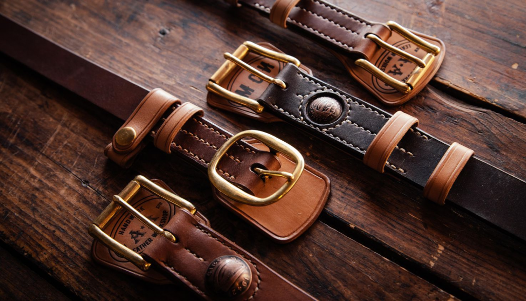 Manufacture of leather belts