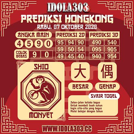 Prediksi Idola303 HK Rabu 07 Oktober 2020
