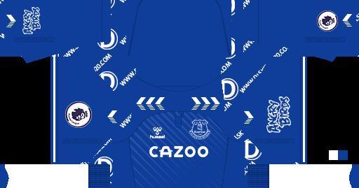 Everton F C Kits 2020 2021 Hummel Kit Dream League Soccer 2019
