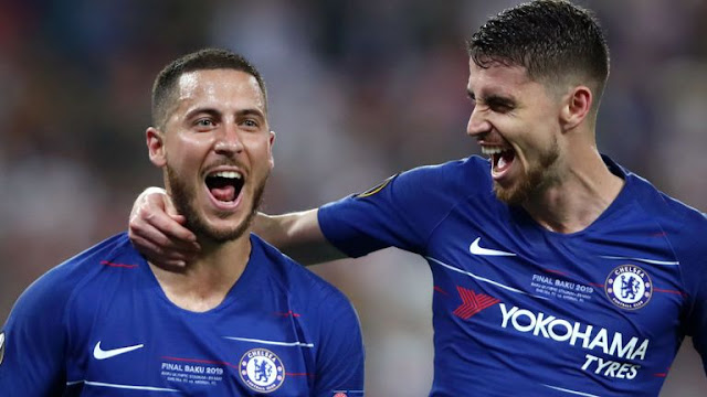 Eden Hazard Chelsea FC Europa League Final
