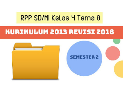 RPP SD/MI Kelas 4 Tema 8 Kurikulum 2013 Revisi 2018 Semester 2
