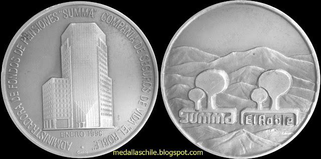 Medalla AFP Summa - El Roble