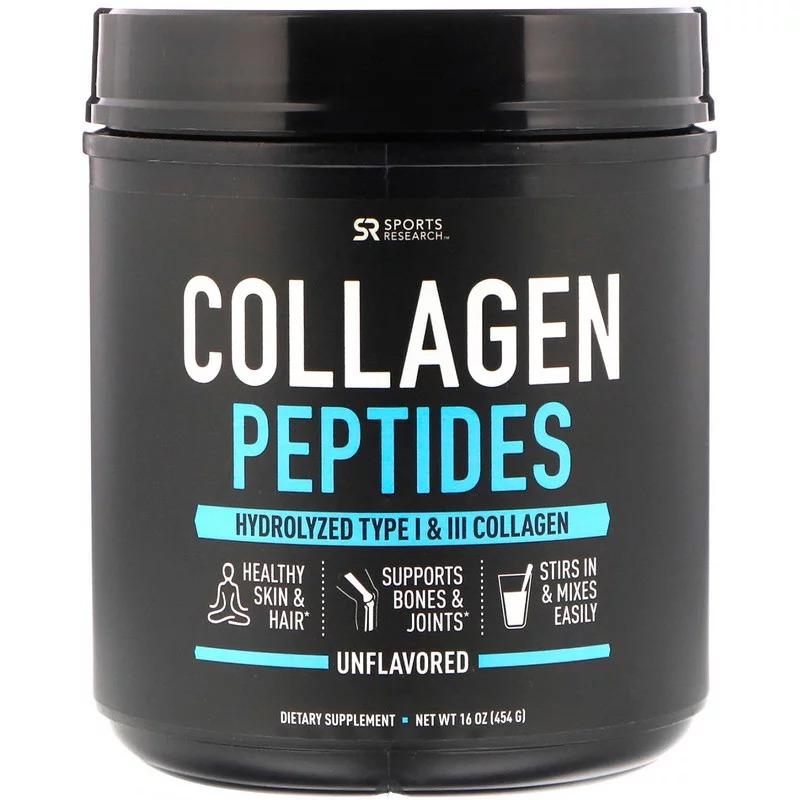 Sports Research, Пептиды коллагена, без вкусовых добавок, 454 г (16 унций)
