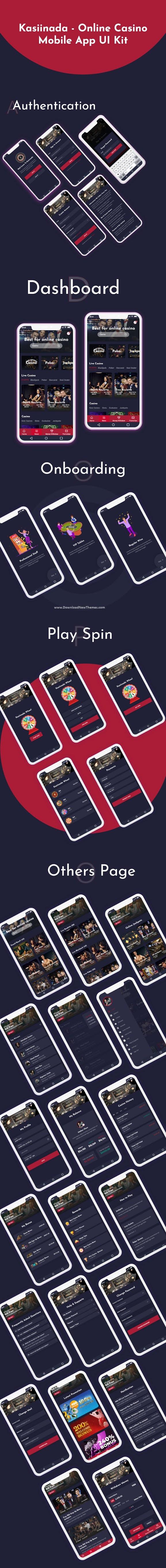 Online Casino Mobile App UI Kit