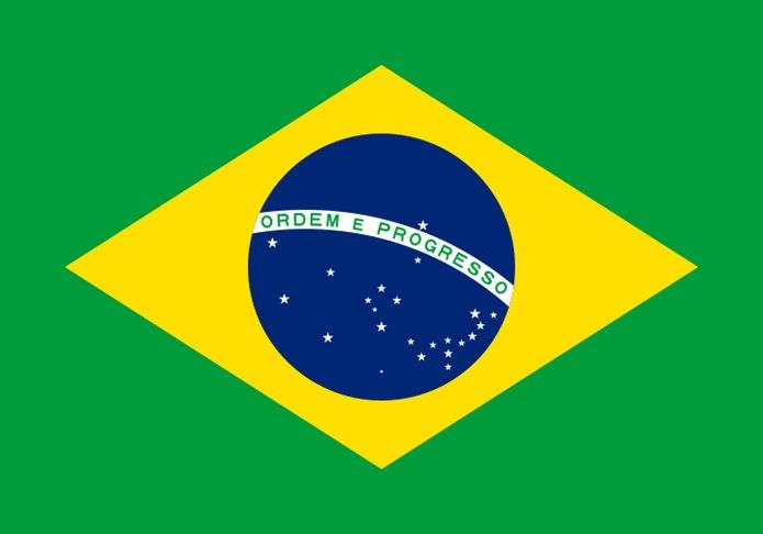 Bayrağında sarı renk olan ülkeler Brezilya bayrağı