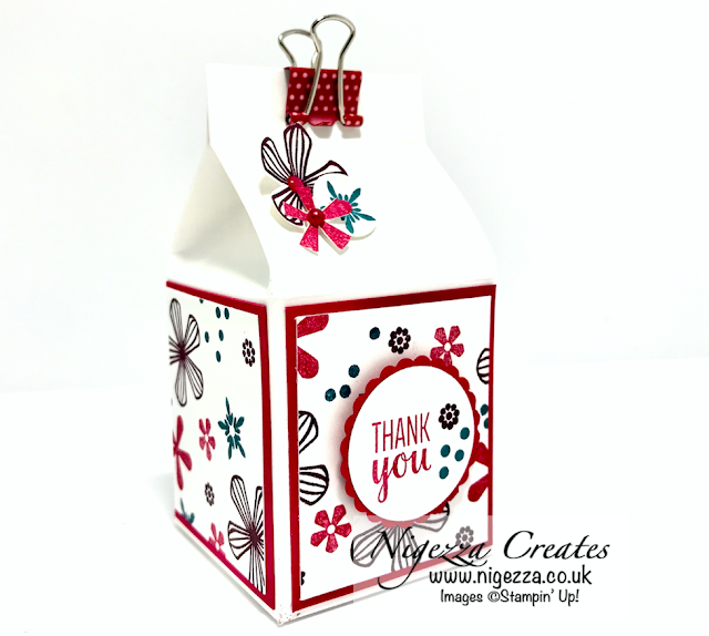 Nigezza Creates with Stampin' Up! & Thoughtful Blooms Milk Carton Yankee Candle Gift Box