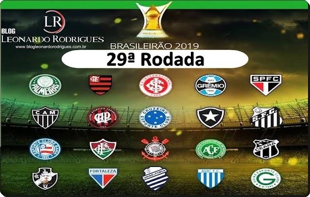 CAMPEONATO BRASILEIRO - 29ª RODADA; VEJA AS CHANCES DE SEU TIME