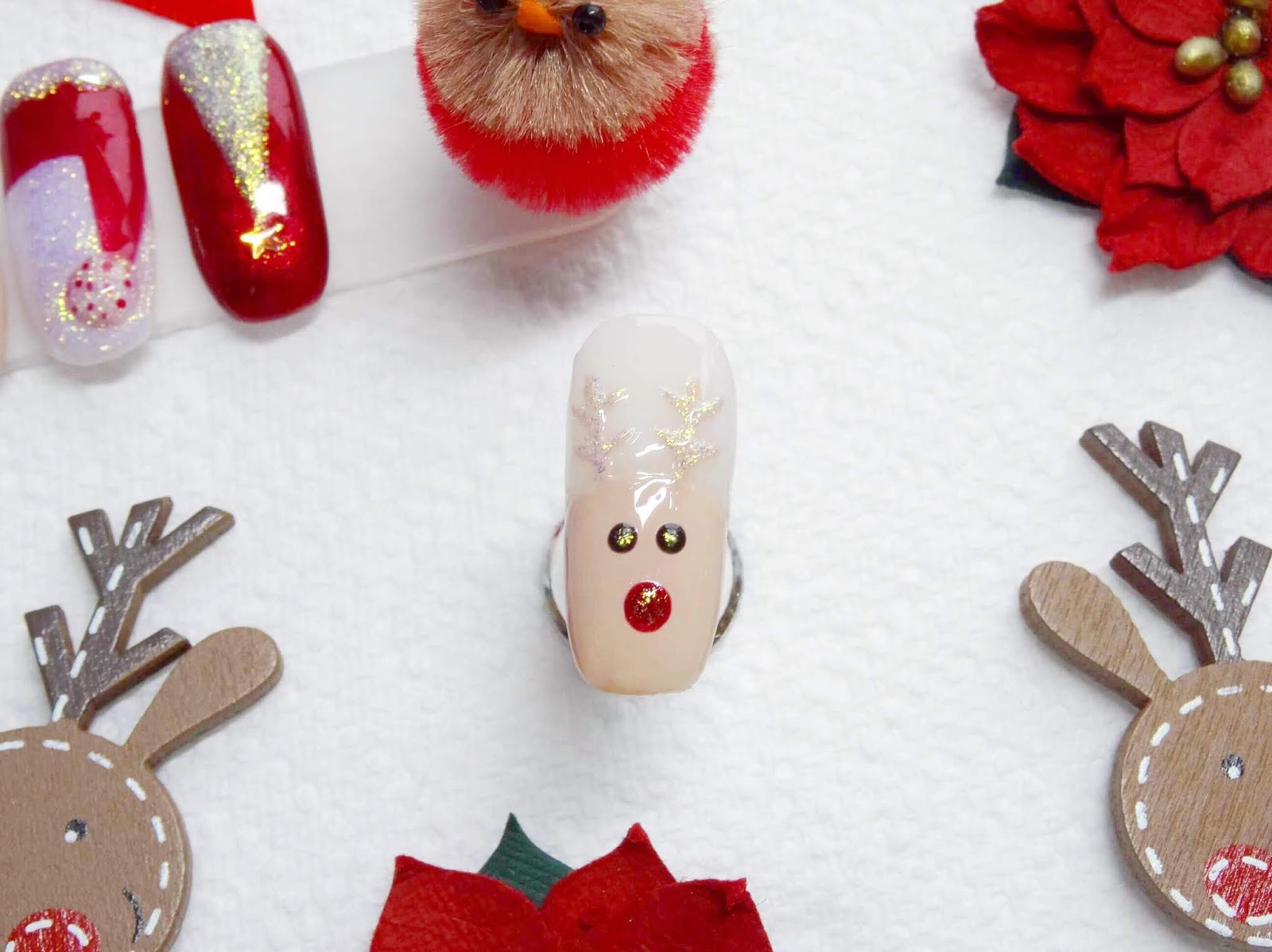 Easy Rudolph The Reindeer Nail Art | Step By Step Demo