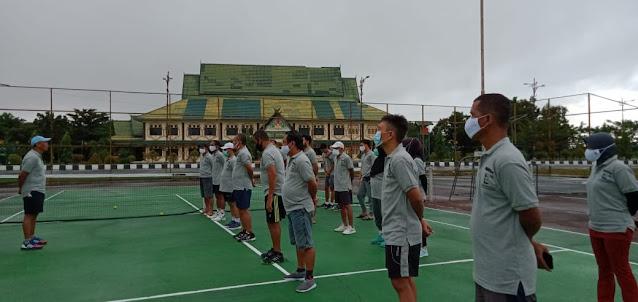 Rayakan HUT ke - 2, PN Pulang Pisau Gelar Turnamen Tenis Lapangan