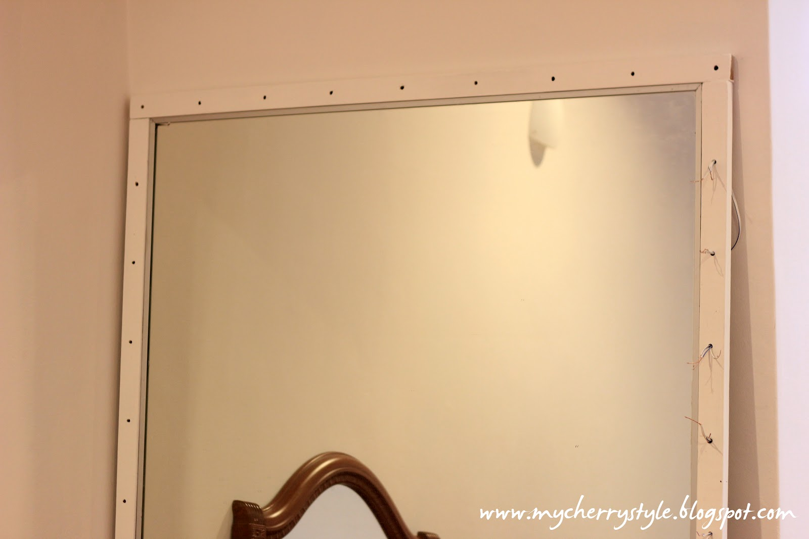 diy hollywood vanity mirror with lights. DIY Hollywood Style Mirror With Lights  Tutorial From Scratch For Real My Cherry
