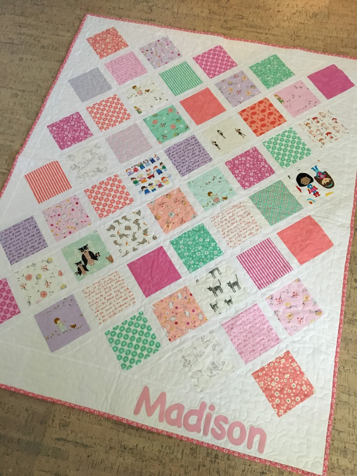 Kayakquilting the pattern is amy smarts lattice baby quit a free tutorial on her web site diary of a quilter its a great use of charm squares and the on point baditri Choice Image