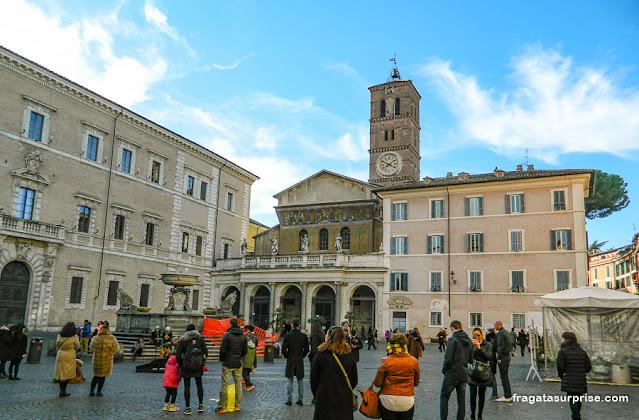 Praça de Santa Maria in Trastevere, Roma