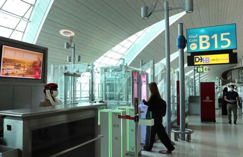 Dubai airport uses passengers' eyes instead of passports