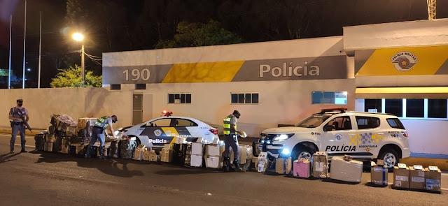 Eletrônicos diversos e perfumes oriundos do Paraguai são apreendidos durante abordagem policial na SP-270