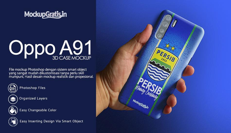 Mockup Custom Case 3D Oppo A91