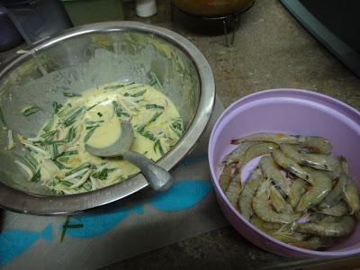 cucur udang rangup, resepi cucur udang simple