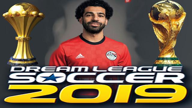 كن اول من يلعب Dream League 2019 باتش منتخب مصر -امم افريقيا 2019 بالتشكيل الأساسي والقمصان الجديدة