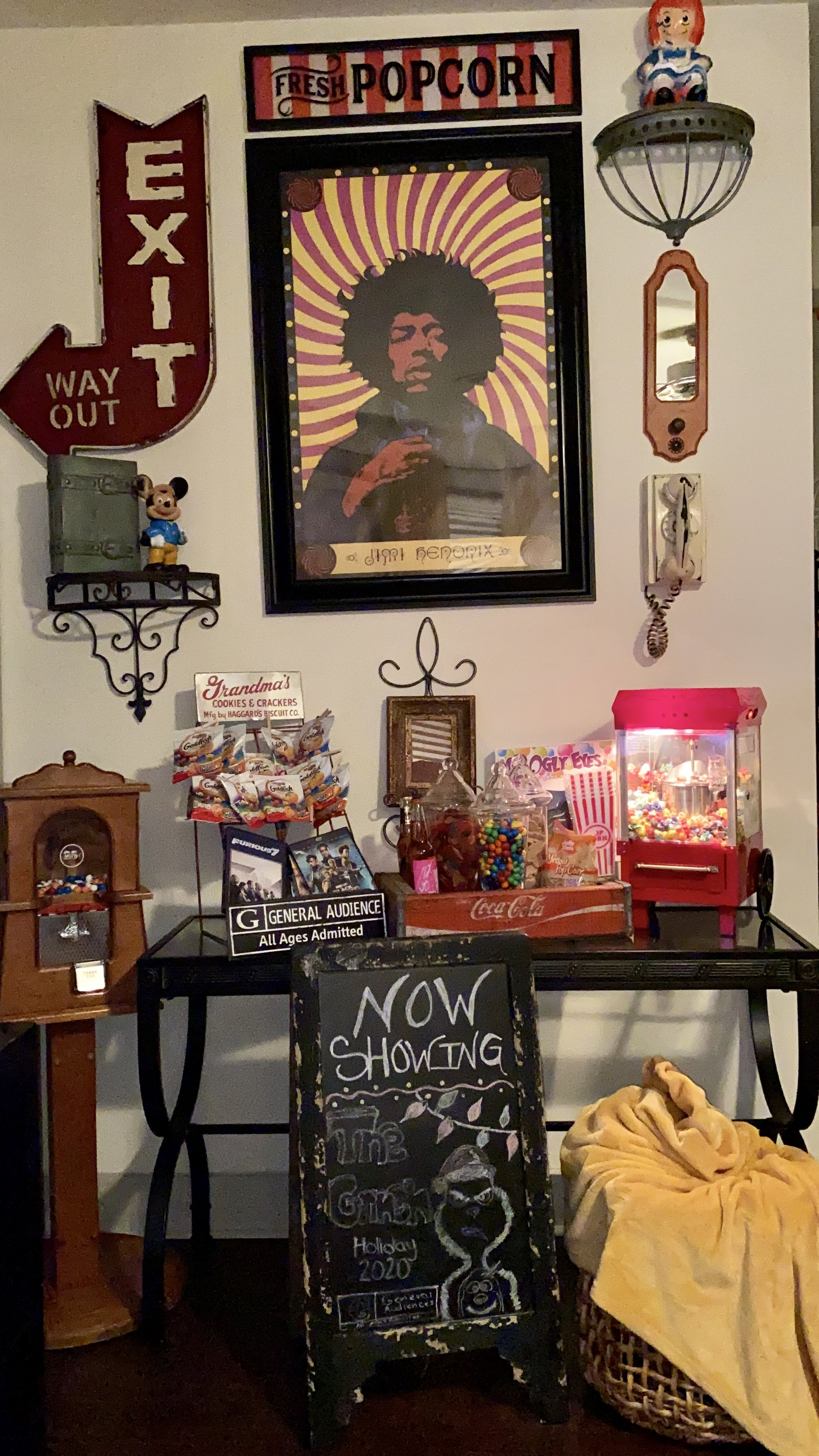 Revealing: 1940s Inspired Candy And Popcorn Bar + Gallery Wall