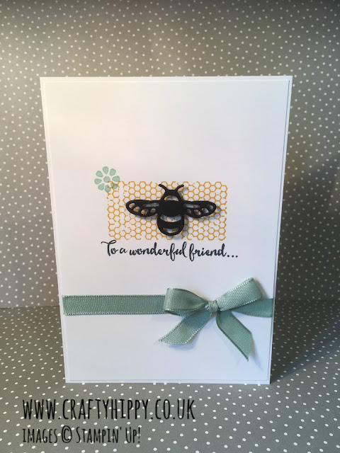 Dragonfly Dreams Bumblebee Card, Stampin' Up!