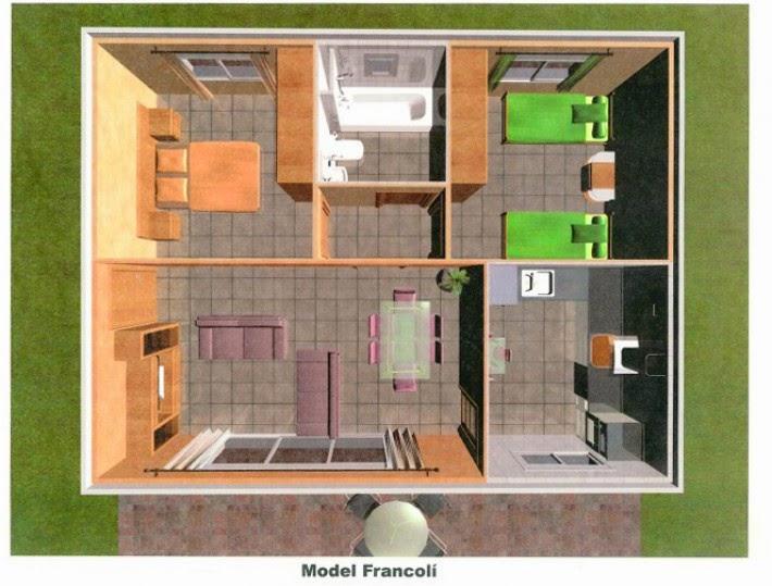 plano casa prefabricada hormigon