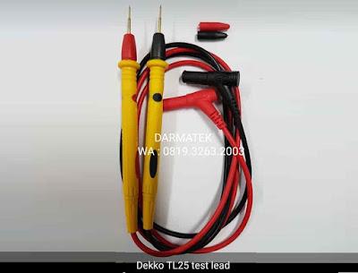 Jual Test Lead Kabel DEKKO TL25 Multimeter-Multitester-Avometer Type Jarum Lancip
