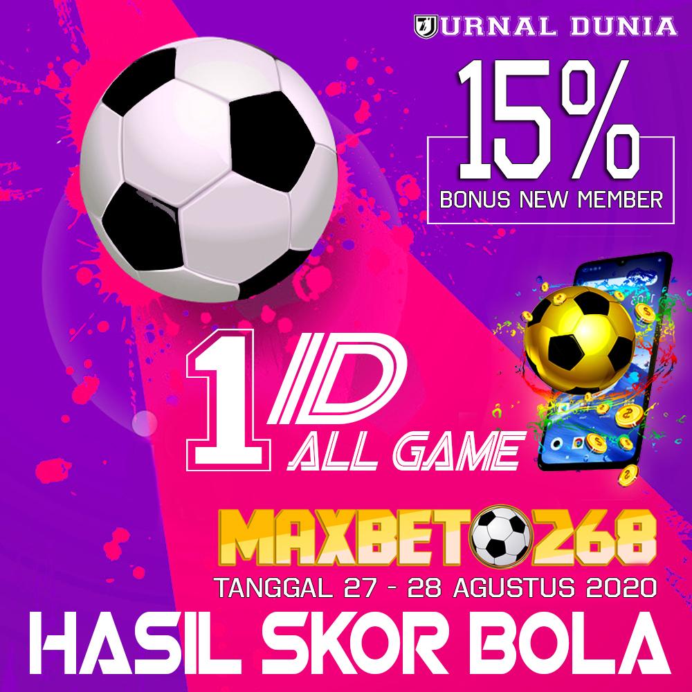 Hasil Pertandingan Sepakbola Tanggal 27 - 28 Agustus 2020