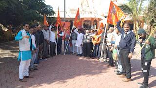 श्री राम मंदिर निर्माण हेतु वाहन रैली निकाली
