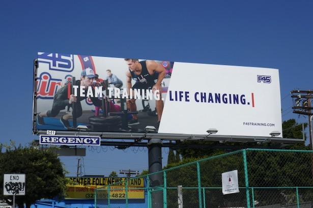 F45 Team training billboard