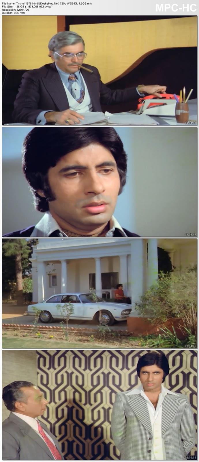 Trishul 1978 Hindi 720p WEB-DL 1.5GB Desirehub