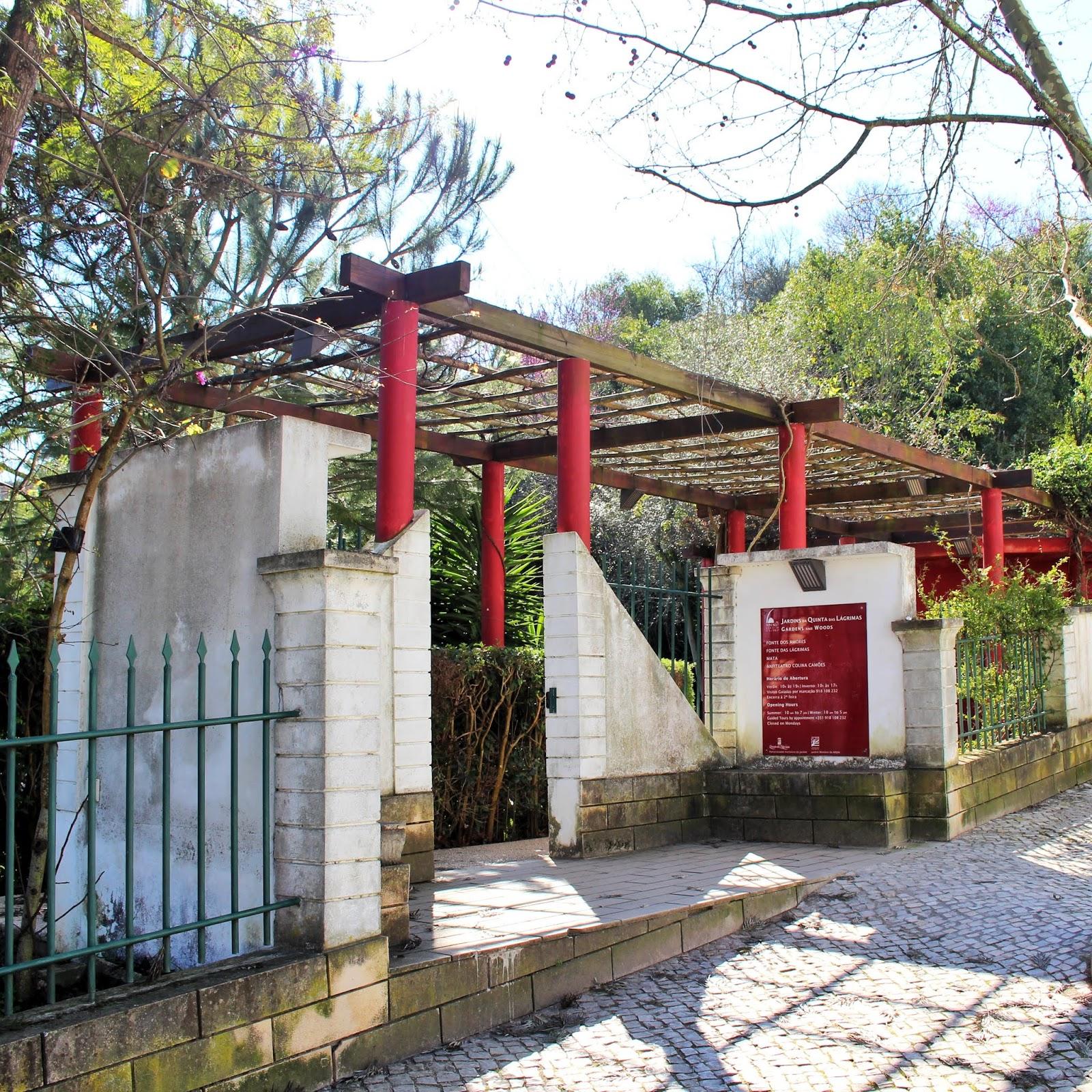 Entrada Quinta das Lágrimas, Coimbra