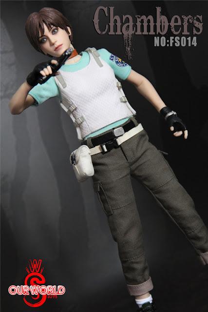 """osw.zone Our World 1 / 6th """"Chambers"""" 12 inch female figure aka Resident Evil Rebecca Chambers"""