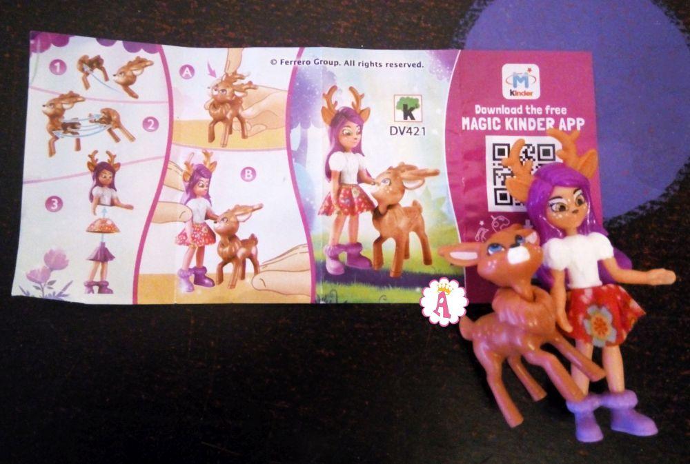 Игрушки Danessa Deer и Sprint (Данесса Олени со Спринтом) DV421 киндер сюрприз Энчантималс