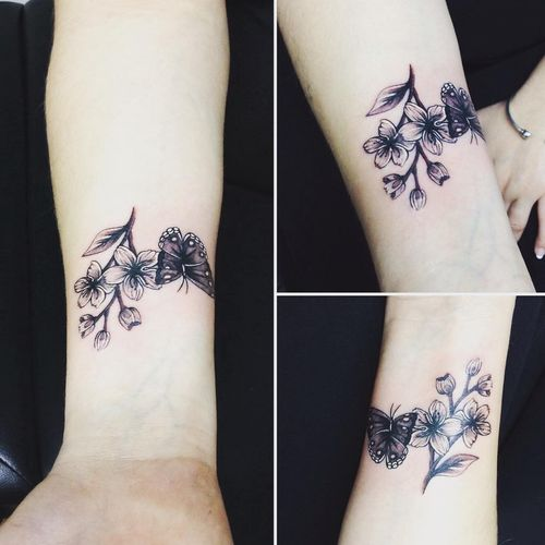 Stunning Cherry Blossom Tattoos and Meanings