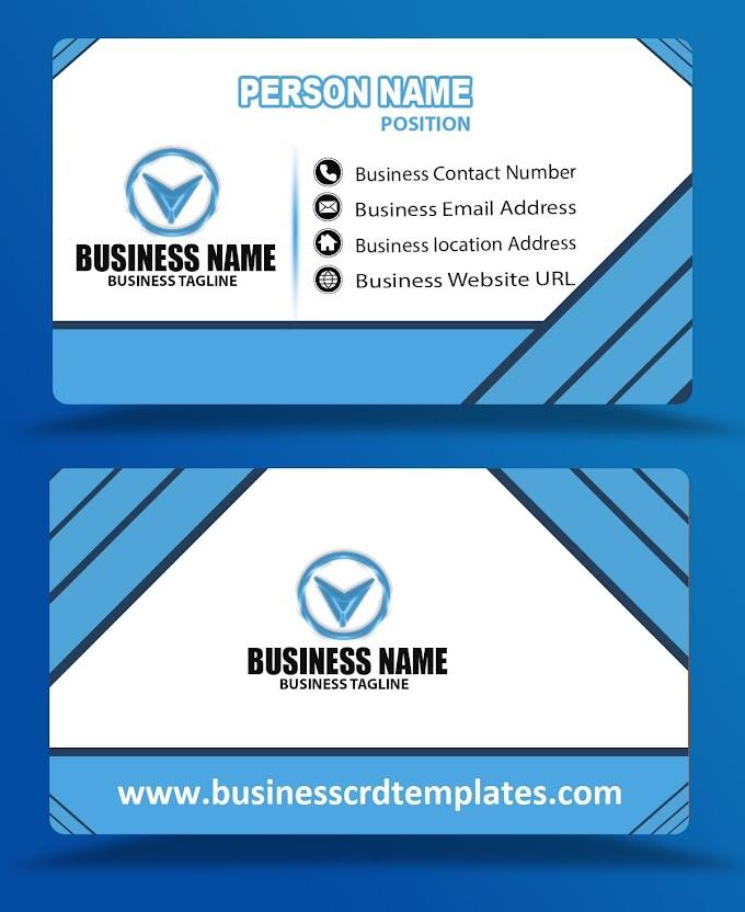 Blue color business card design psd eps free download