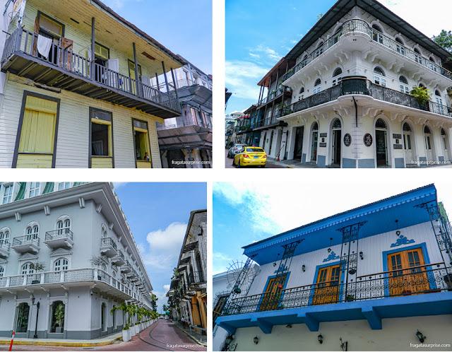 Casarões do Casco Viejo da Cidade do Panamá