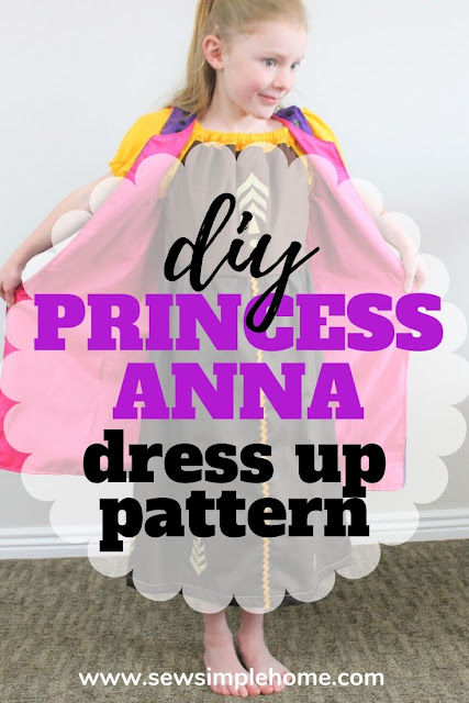 Sew up your own diy anna costume with this free peasant dress pattern and sewing tutorial.