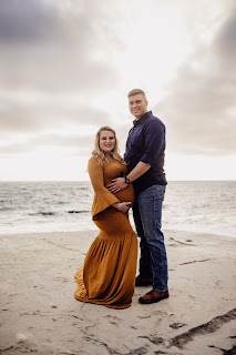 Family maternity photo session at Windansea Beach, La Jolla, CA with Morning Owl Fine Art Photography San Diego CA.