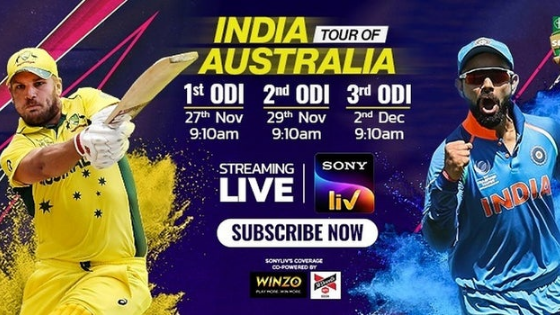 WinZO Becomes Co-powered Sponsor In India-Australia Series On SonyLIV.