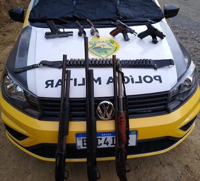 Sete assaltantes morrem em confronto com a Polícia em área rural de Prudentópolis