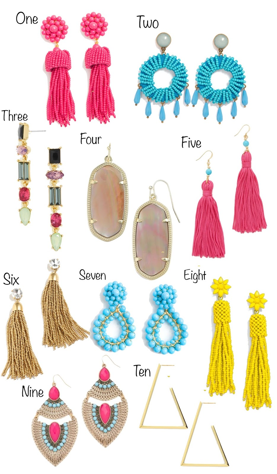Something Delightful: Statement Earrings Under $100